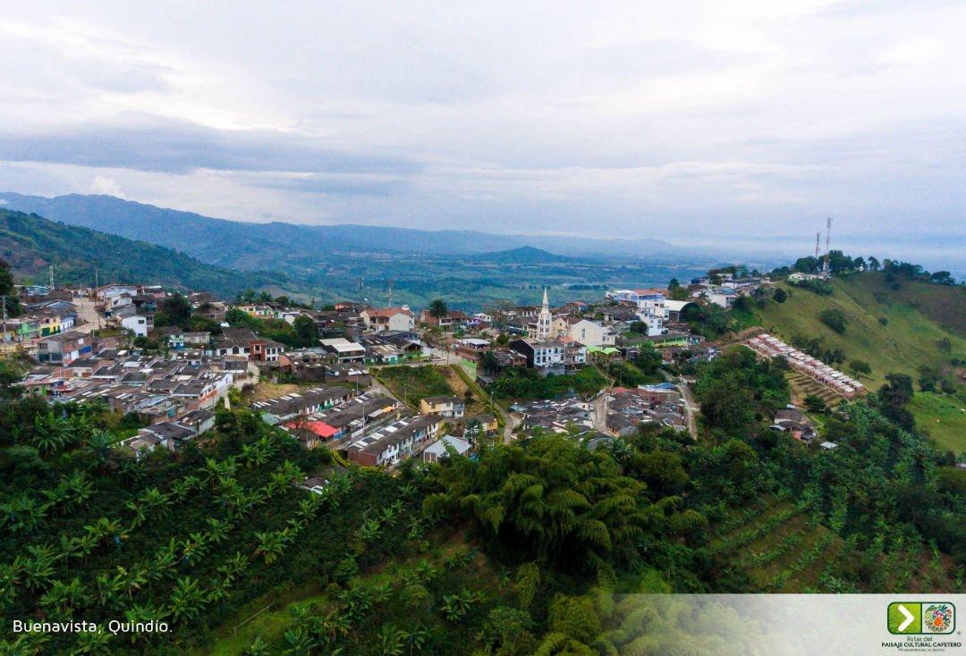 panorámica del pueblo buenavista ubicado en el departamento del quindío