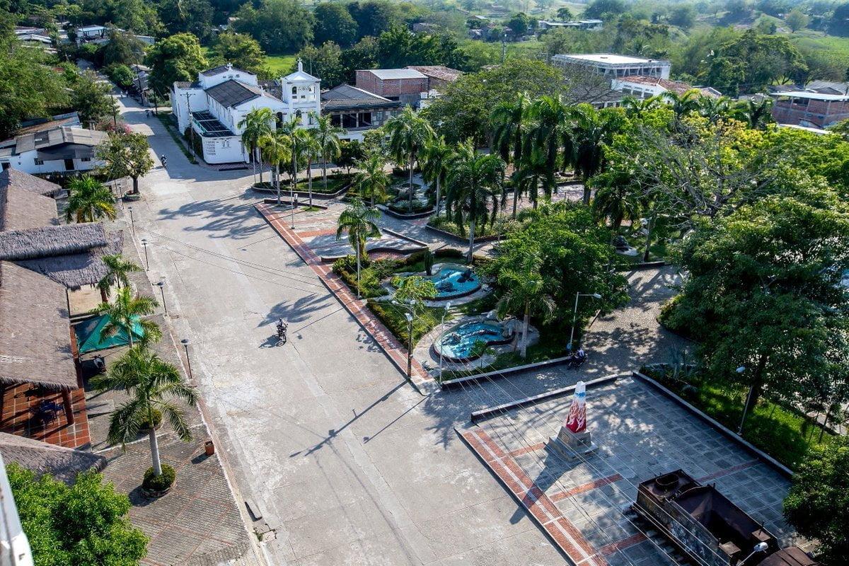 Vista del Municipio de Puerto Triunfo en Doradal, Antioquia