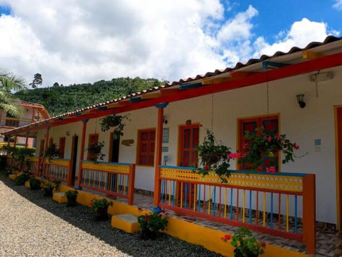Fachada de la Hostería El Paraiso en Jardín, Antioquia